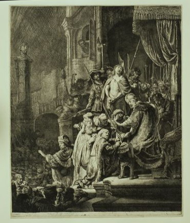Christus voor Pilatus: grote plaat