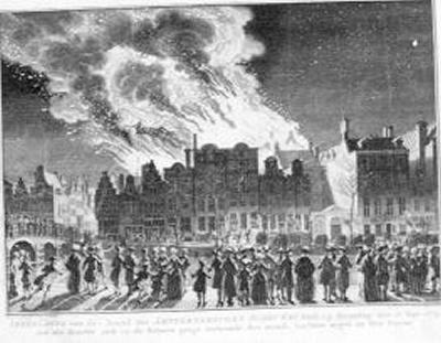 De brand van de Amsterdamse schouwburg op 11 mei 1772