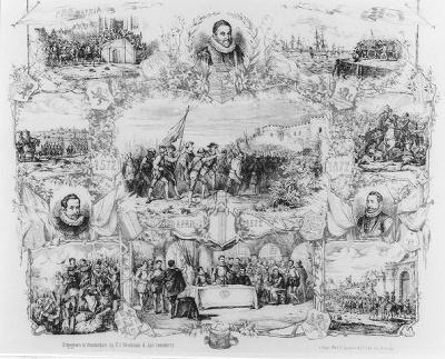 De inname van Den Briel op 1 april 1572 (gedenkprent)
