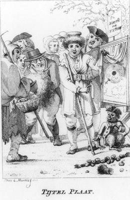 De Waereld in de XIX Eeuw, titelprent
