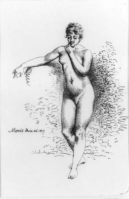 Staand vrouwelijk naakt