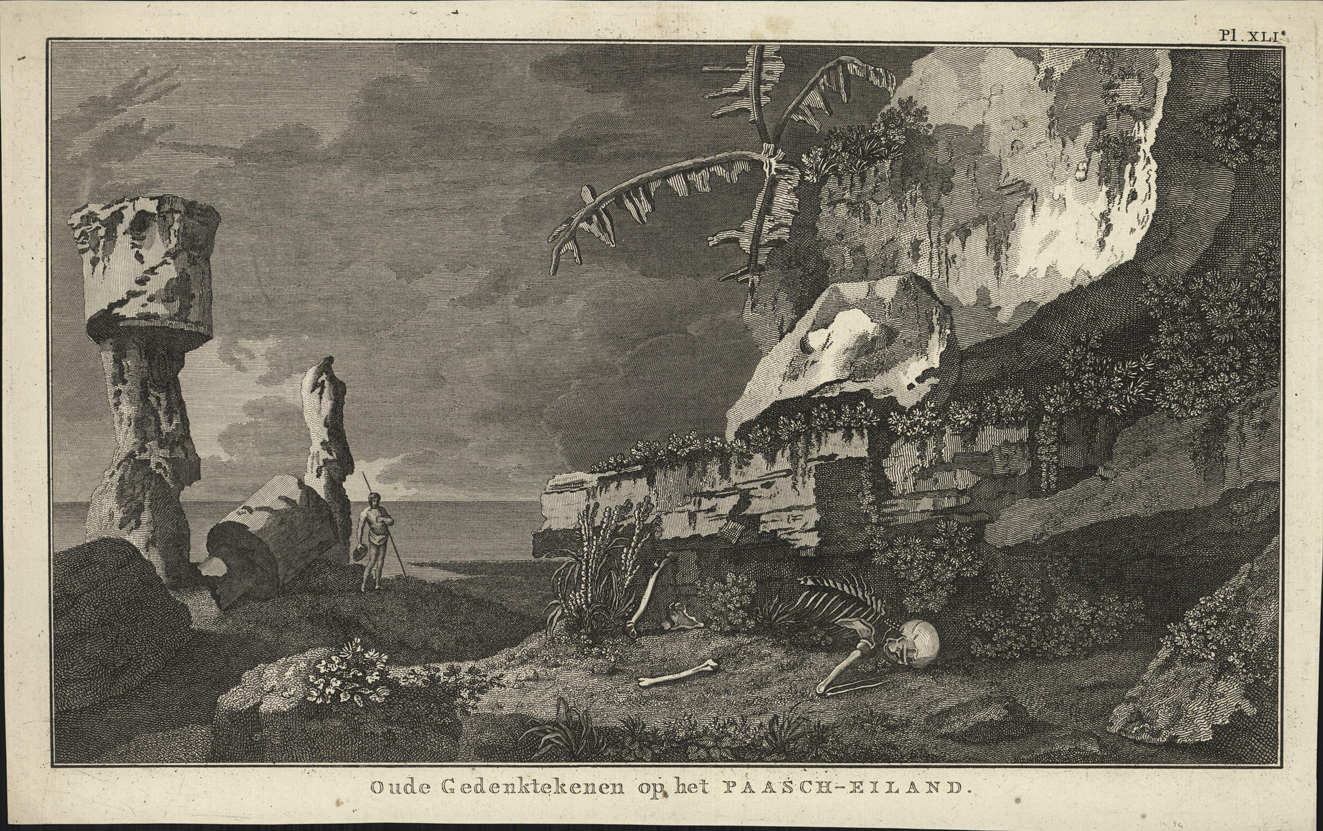 Oude gedenkteekenen op het Paasch-eiland