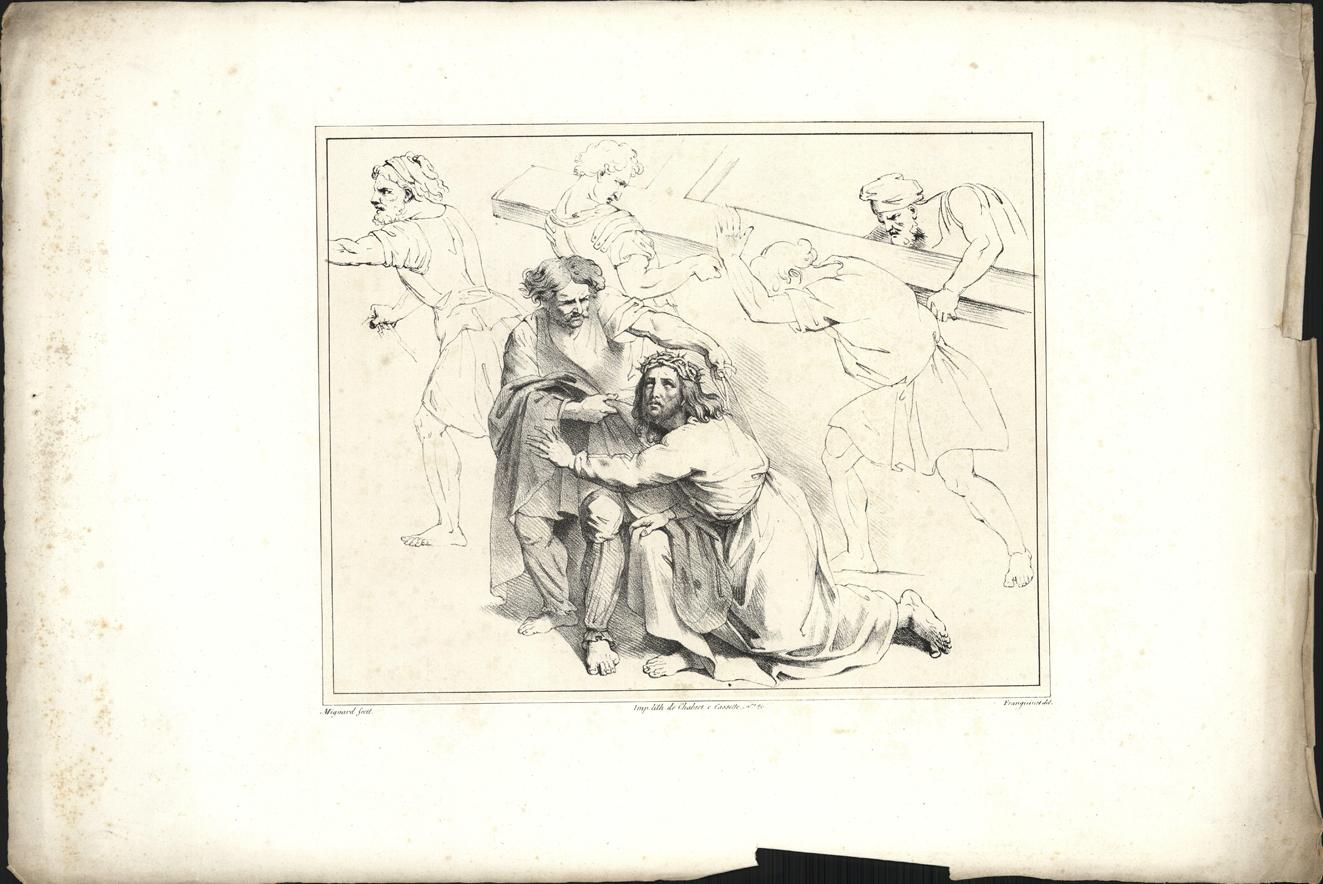 Jezus gevallen op de Kruisweg