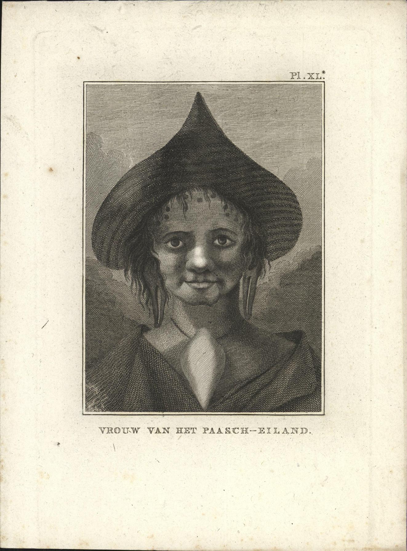 Vrouw van het Paasch-Eiland