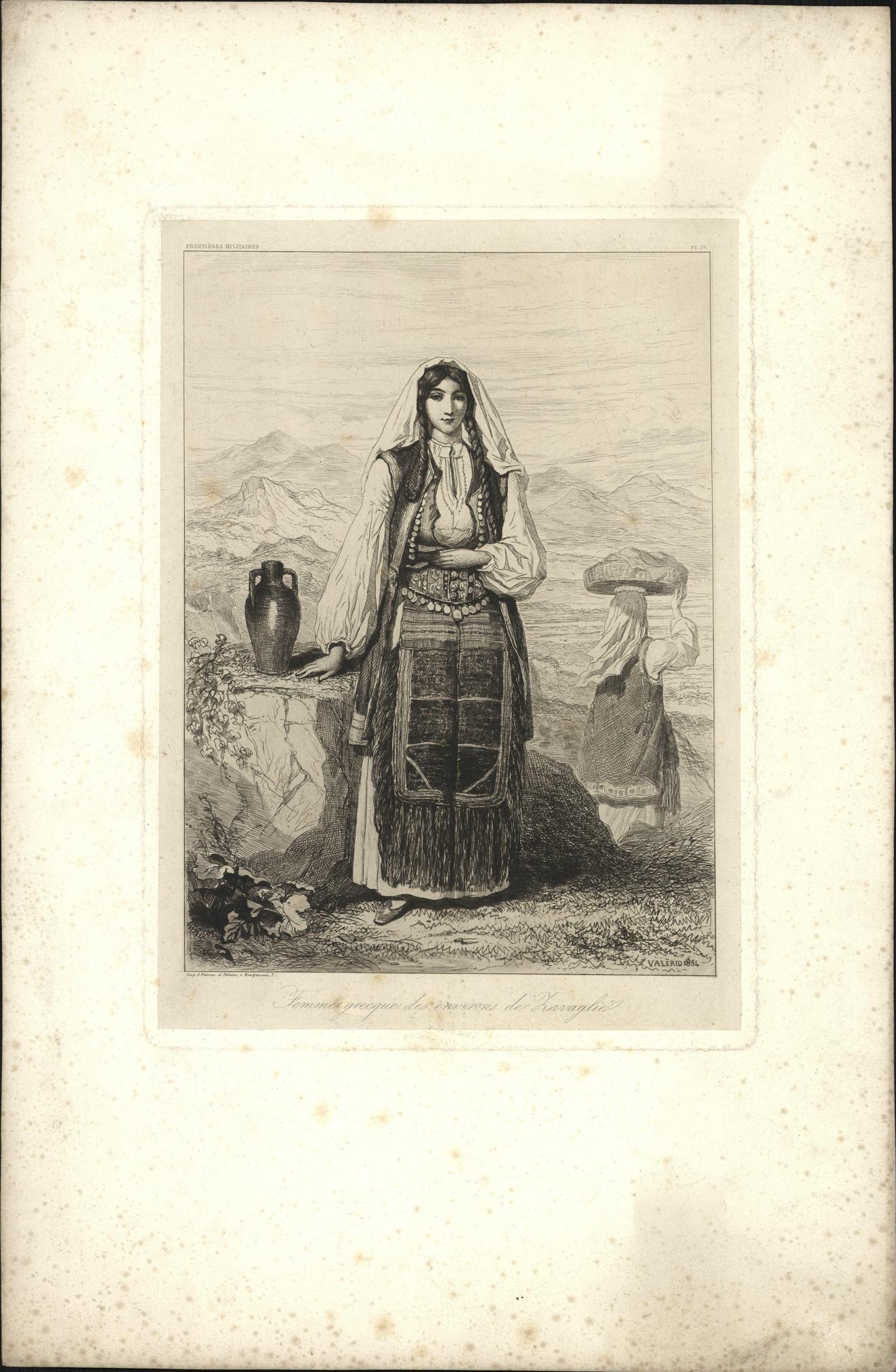 Vrouw in Griekse klederdracht