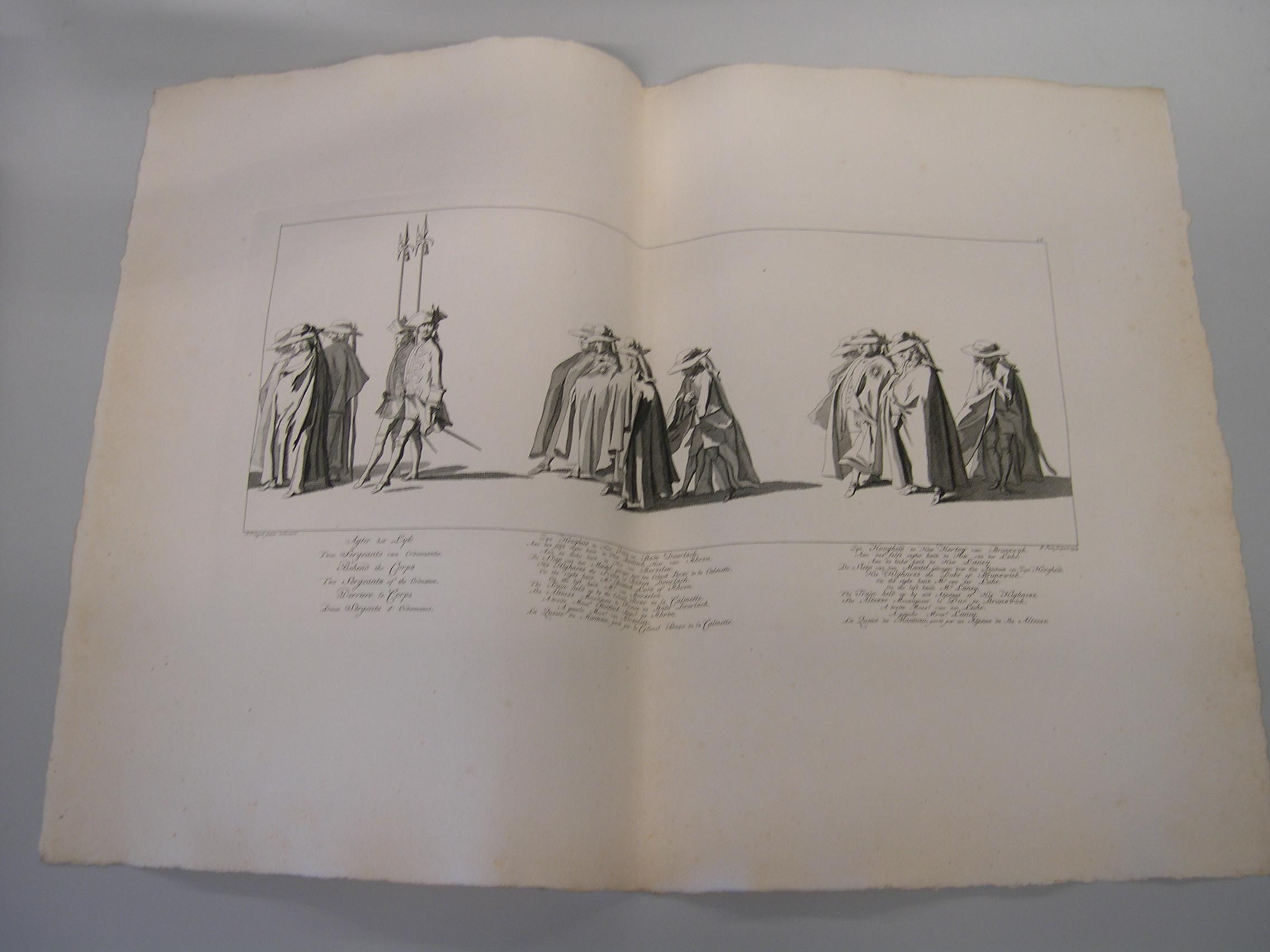 Prent begrafenisstoet Willem IV
