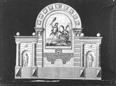 Afbeelding van de illuminatie op de Westermarkt: Vernietiging van de aristocratie