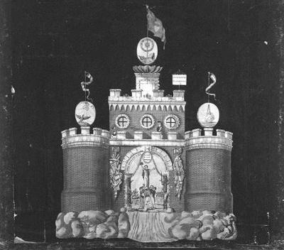 Afbeelding van de illuminatie op het Kadijksplein: Algemene Wapening