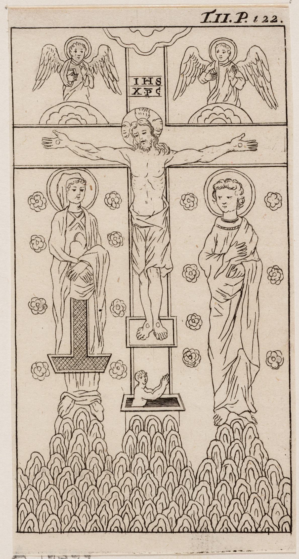 Byzantijnsche voorstelling van de kruisiging