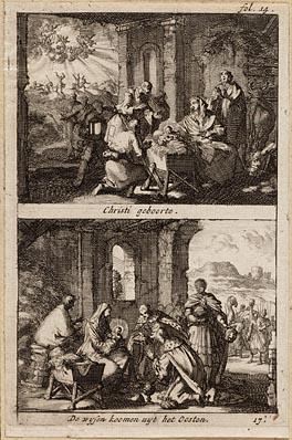 Christi geboorte, de wysen koomen uyt het oosten