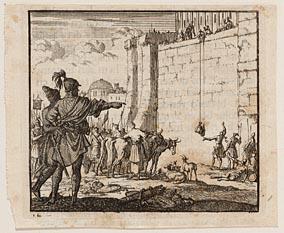 De in de tempel opgesloten Joodse priesters trachten zich voor het paasfeest van offerdieren te voorzien