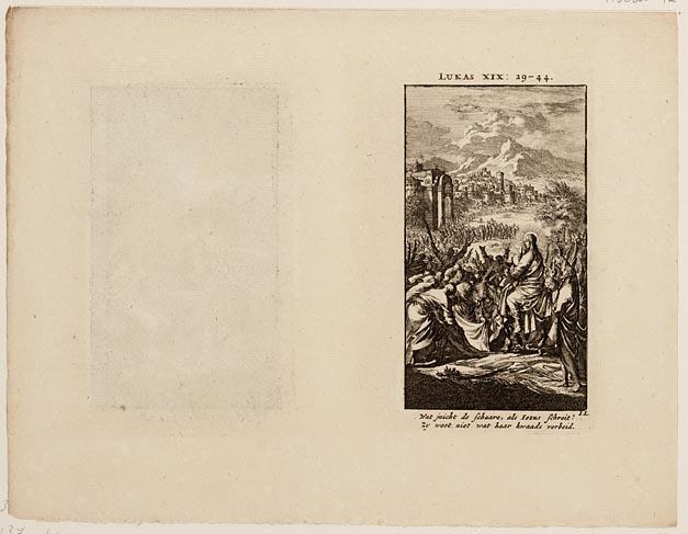 Christus´ intocht in Jeruzalem, Jezus en een Samaritaanse vrouw bij de Jacobsbron