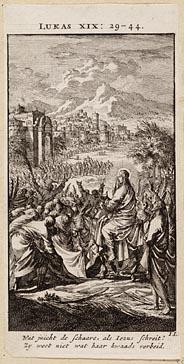 Christus´ intocht in Jeruzalem