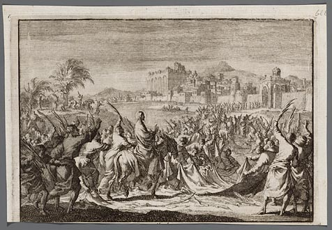 Jezus´ intocht in Jeruzalem