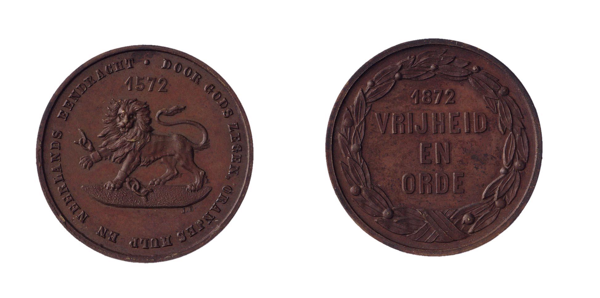 Derde eeuwfeest der inneming van Den Briel door de watergeuzen en begin van de Nederlandse onafhankelijkheid, 1 april 1872