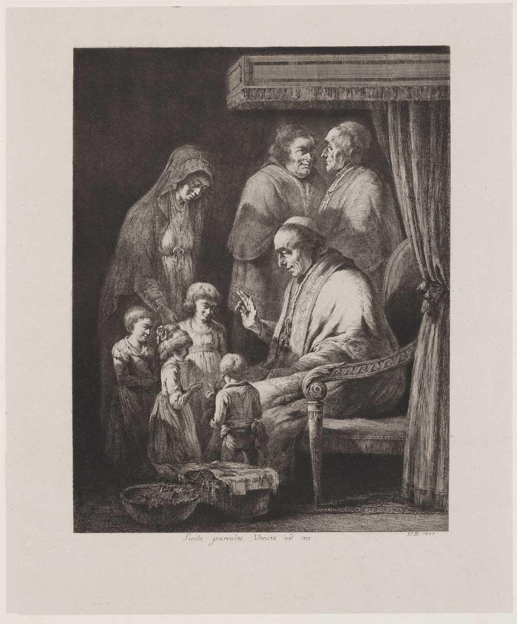 Geestelijke ontvangt kinderen (no.3)
