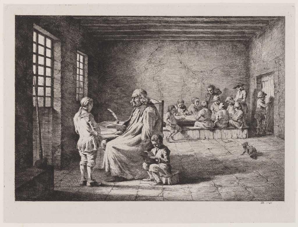 Oude man met kinderen (no.16: de klas)