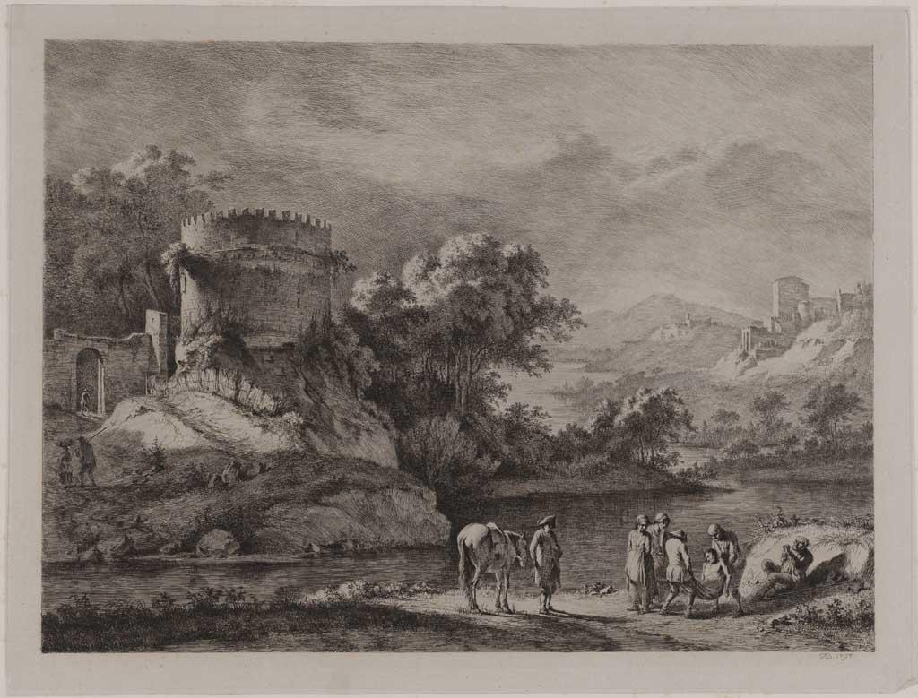 Berglandschap met links ruïne (no.31)