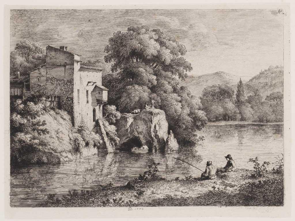 Landschap met rivier en vissers (41)