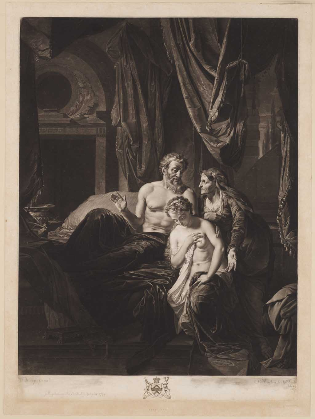 Abigail bringing Badseba to David