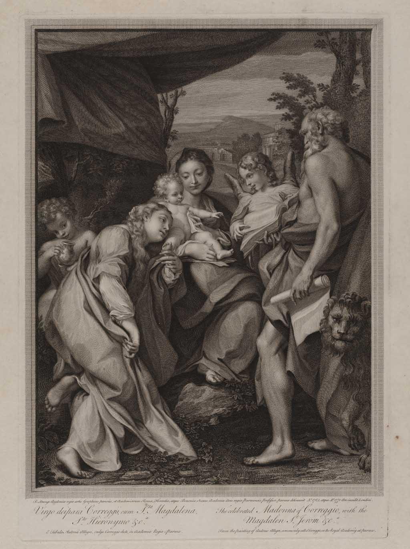 De beroemde Madonna van Correggio, met Maria Magdalena, de Heilige Hiëronymus en anderen