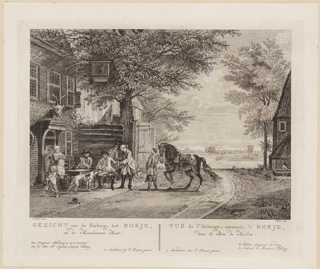 Gezicht van de Herberg 'Het Bokje', in de Haarlemmer Hout