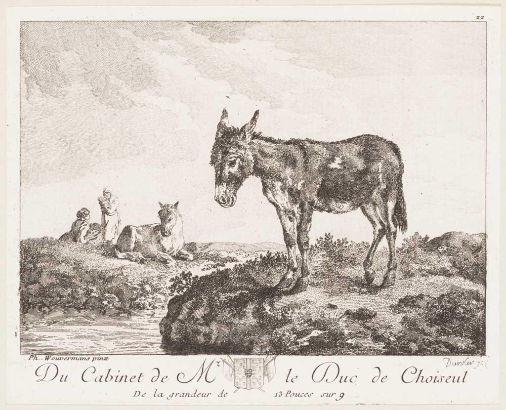 Landschap met ezel