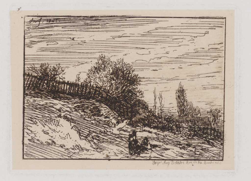 Heuvel met hek