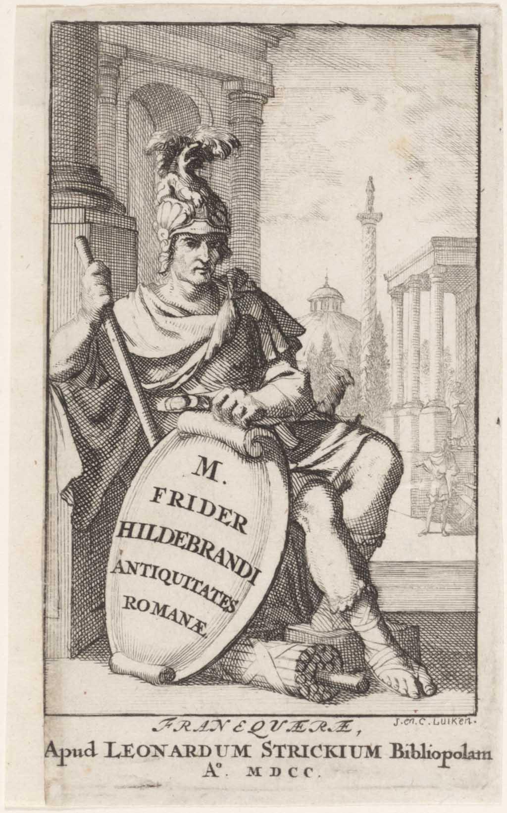 """Titelprent """"Antiquitates Romanæ"""""""