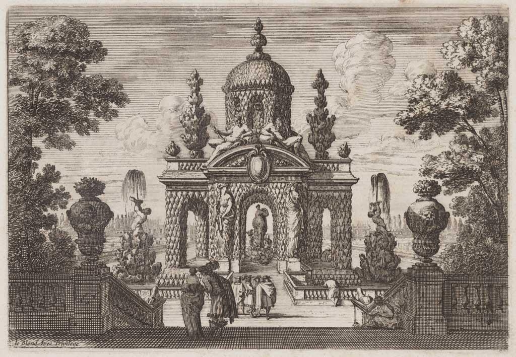 Grotto met standbeeld