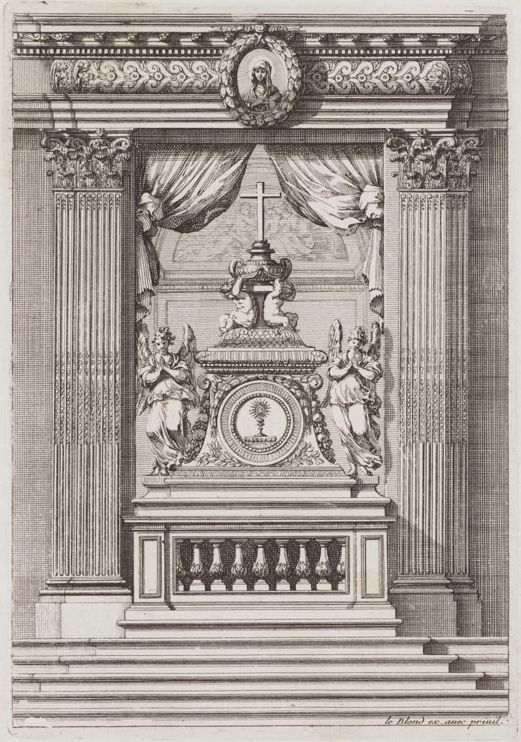 Tabernakel op altaar