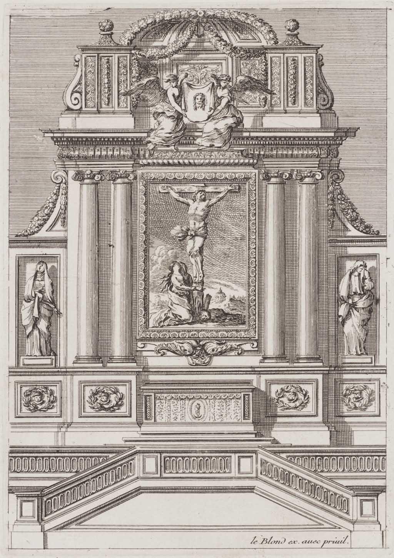 Tabernakel met kruisiging en Maria Magdalena