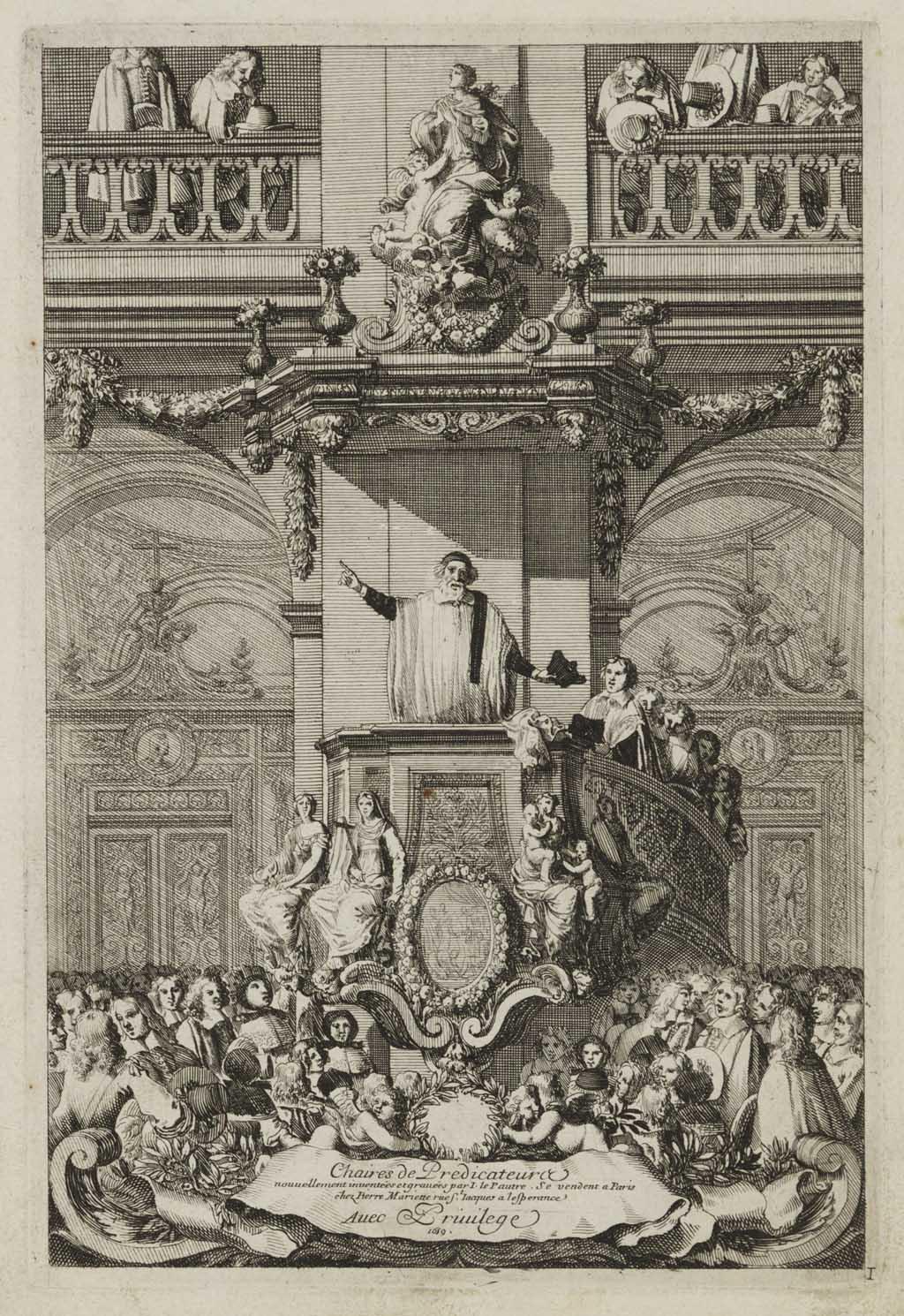 "Titelprent ""Chaires de Predicateurs"""
