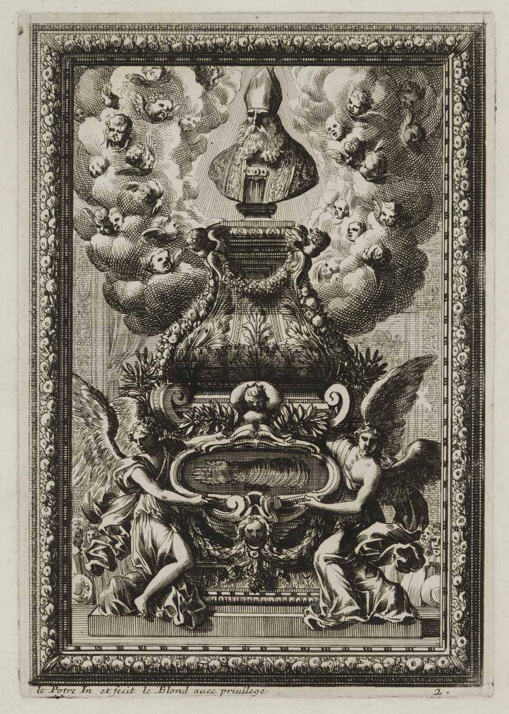 Altaar met rijk gedecoreerde reliekhouder