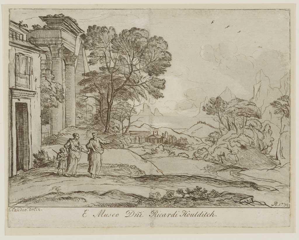 Landschap met Abraham die Hagar en Ismaël wegstuurt