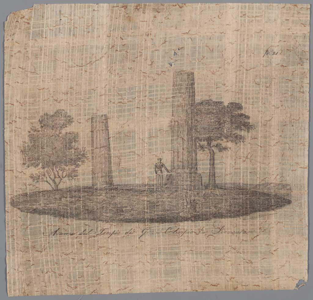 Avanzi del Tempio di Giove Olimpio in Siracusa