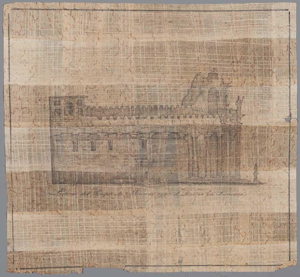 Externo del Tempio di Minerva oggi il Duomo in Siracusa