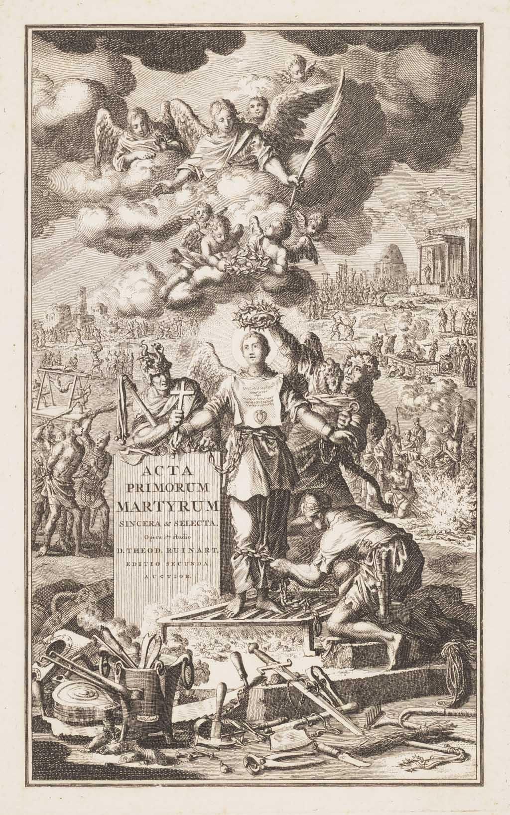 """Titelprent """"Acta primorum martyrum"""""""