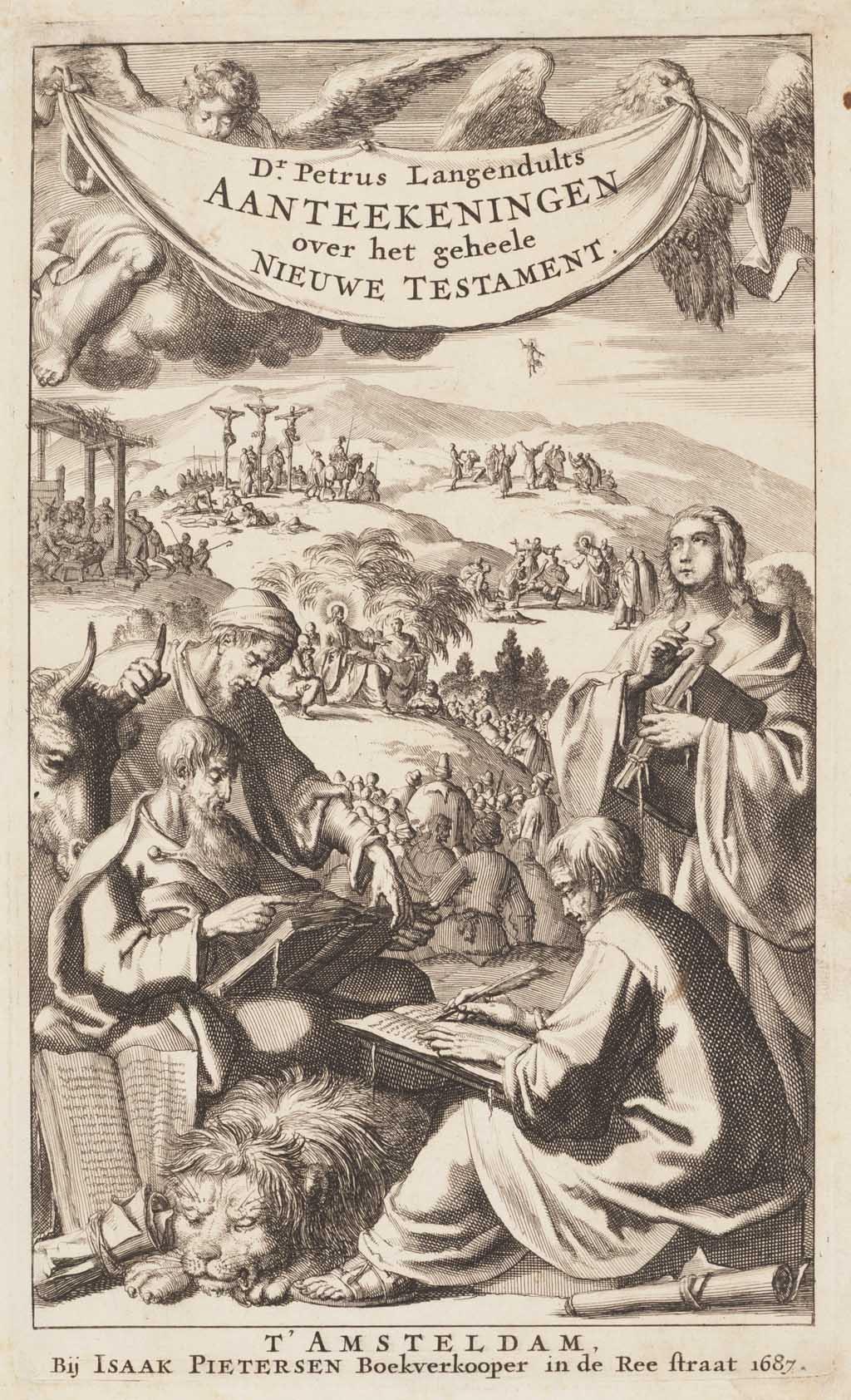 """Titelprent """"Aanteekeningen over het geheele Nieuwe Testament"""""""