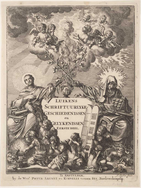 """Titelprent """"De schriftuurlyke geschiedenissen en gelykenissen"""""""