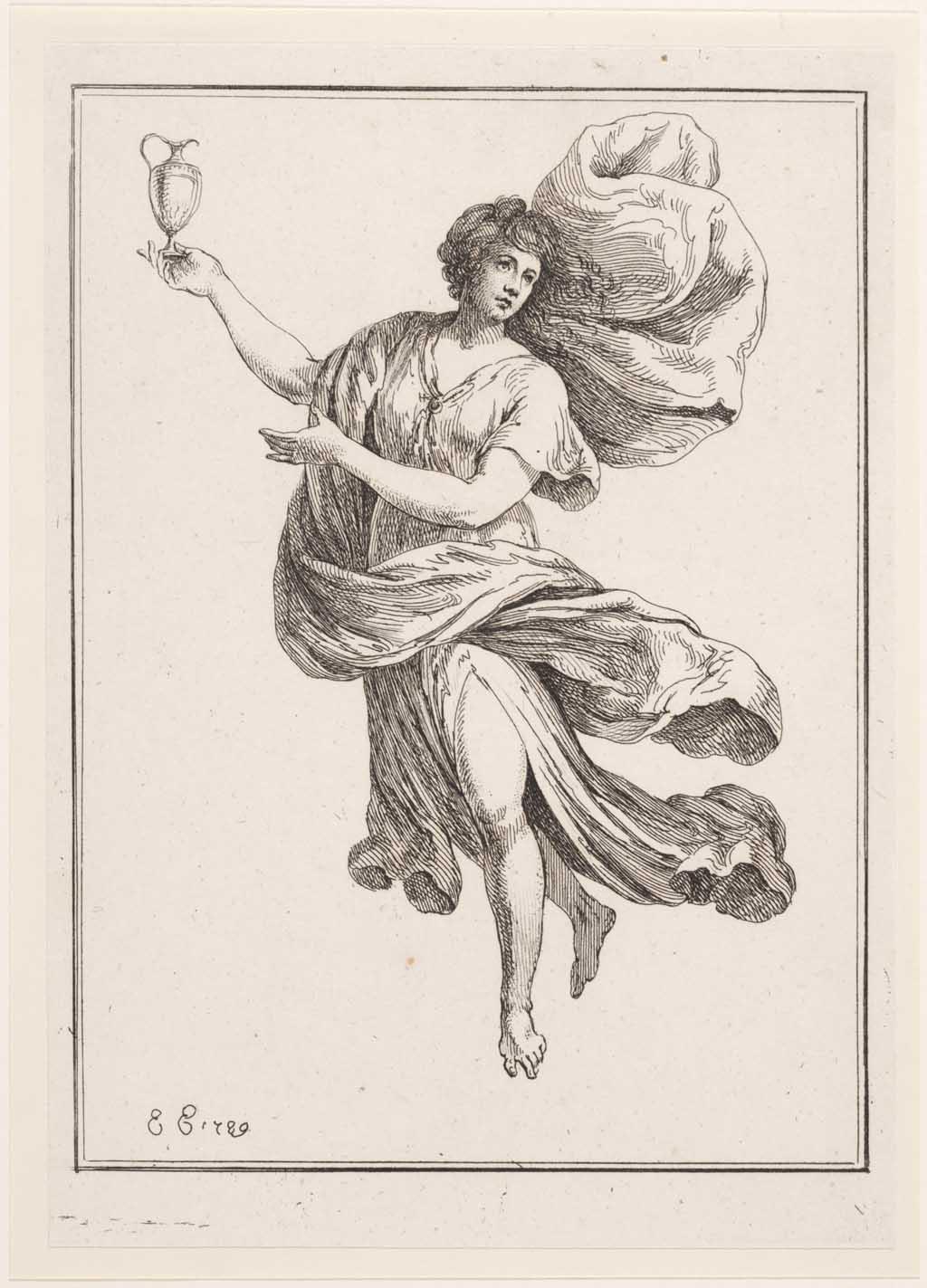 Allegorisch vrouwenfiguur met kruik