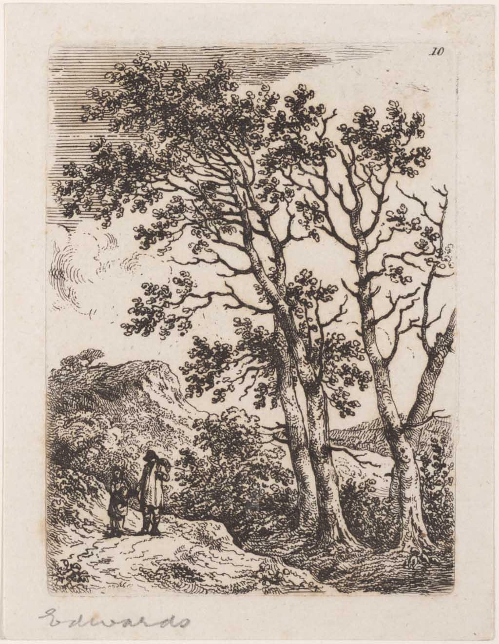 Landschap met een man en een vrouw