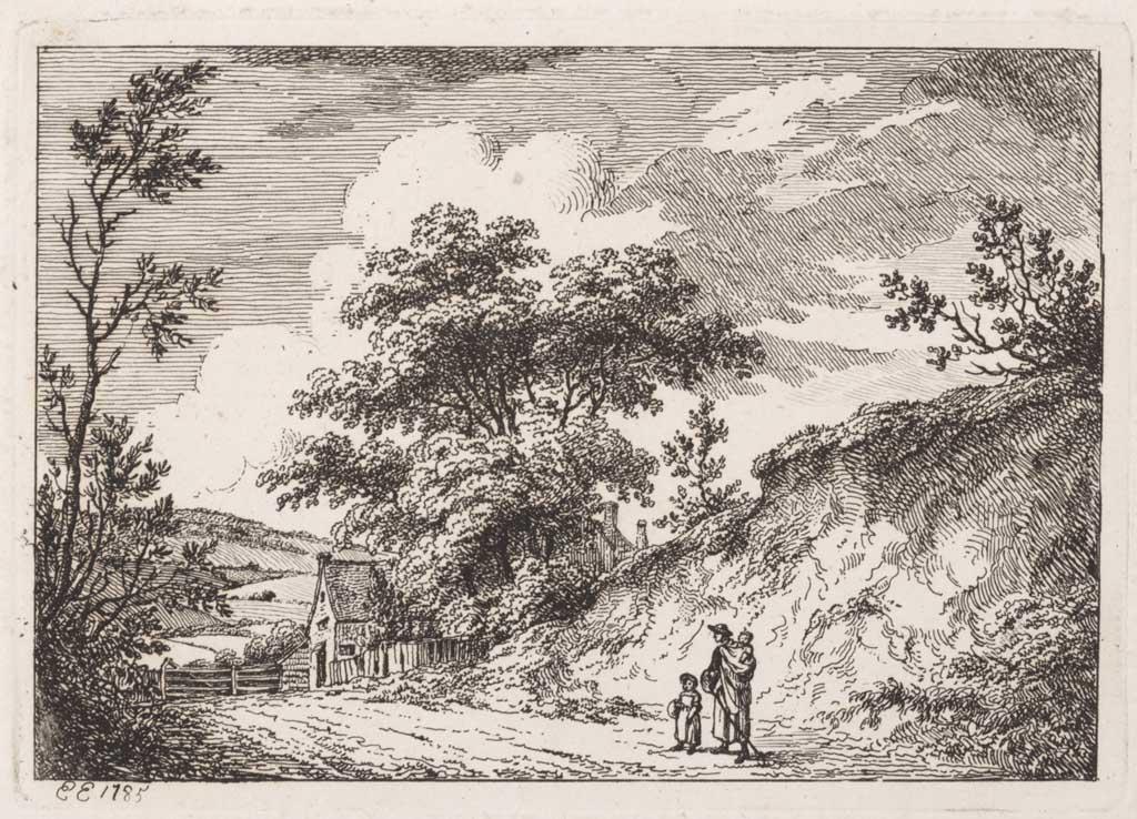 Landschap met een vrouw en twee kinderen