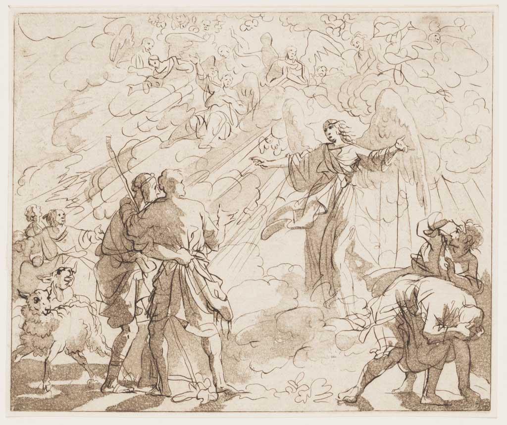 Aankondiging aan de herders (naar Jan Luyken)