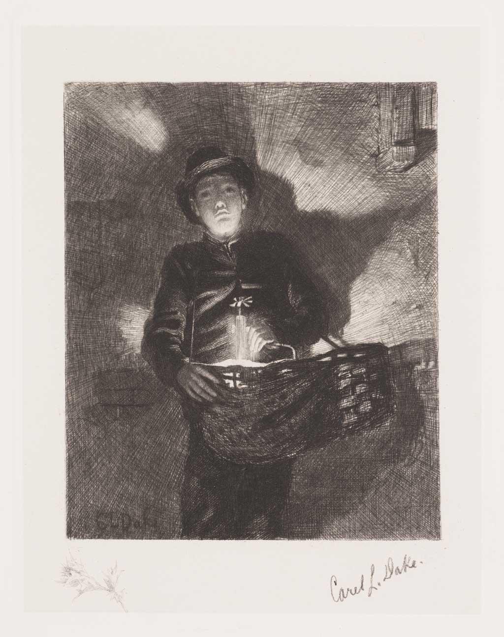 De Distel, etsen van Nederlandsche schilders, editie 1886 (afl. 7: Straatventer)