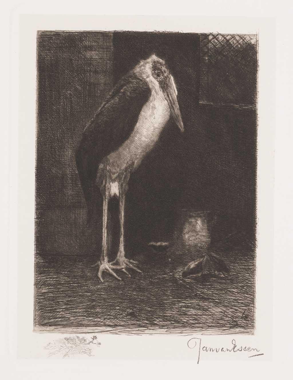De Distel, etsen van Nederlandsche schilders, editie 1886 (afl. 11: Marabout)