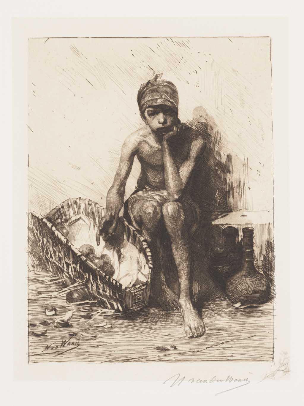 De Distel, etsen van Nederlandsche schilders, editie 1887 (afl. 3: Napolitaansche vruchtenverkoper)