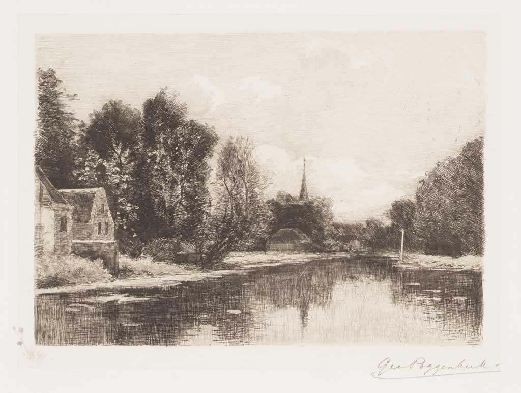 De Distel, etsen van Nederlandsche schilders, editie 1887 (afl. 4: Aan de Vecht)