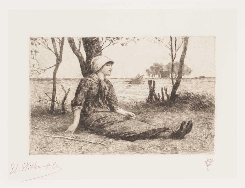 De Distel, etsen van Nederlandsche schilders, editie 1887 (afl. 6: Even rusten)
