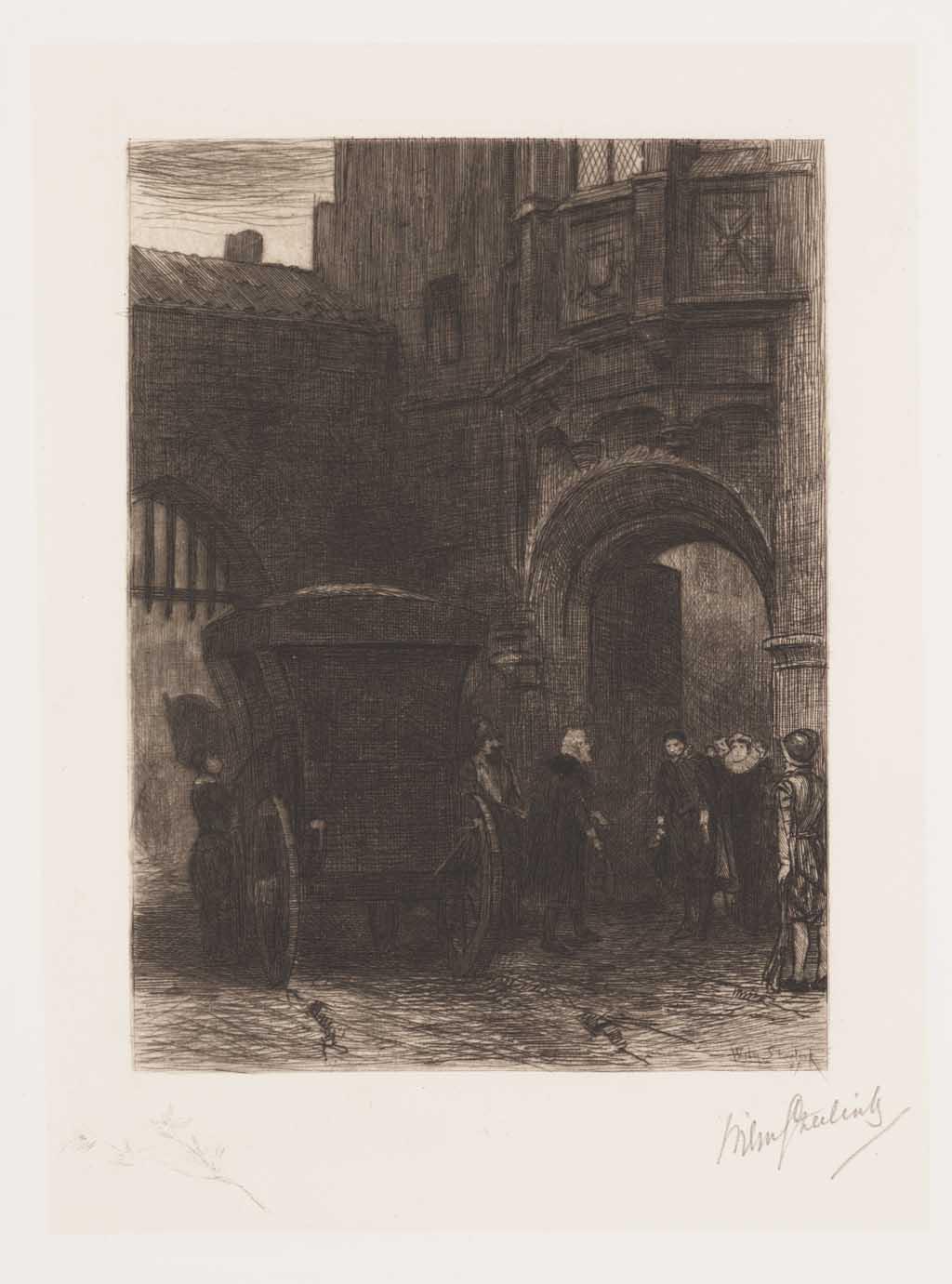De Distel, etsen van Nederlandsche schilders, editie 1887 (afl. 8: De onverwachte gast)